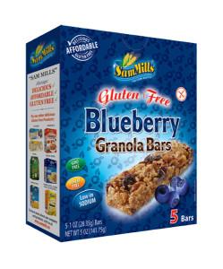 Sam Mills Granola Bars Blueberry