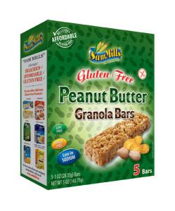 Sam Mills Granola Bars Peanut Butter