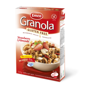 Emco GF Granola Strawberry & Almonds